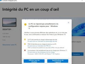 Caractéristique compatible windows 11